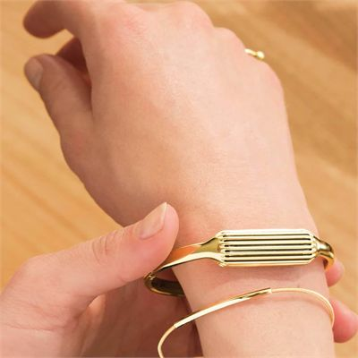 Fitbit Flex 2 Gold-Plated Large Accessory Bangle - Lifestyl