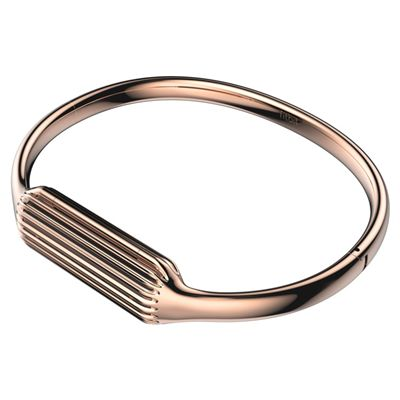 Fitbit Flex 2 Gold-Plated Large Accessory Bangle - Pink - Side