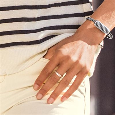 Fitbit Flex 2 Stainless Steel Large Accessory Bangle - Lifestyle