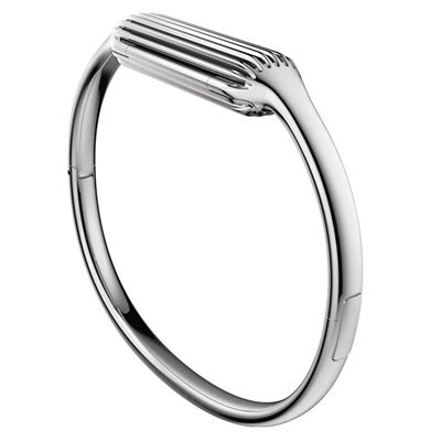 Fitbit Flex 2 Stainless Steel Large Accessory Bangle Side