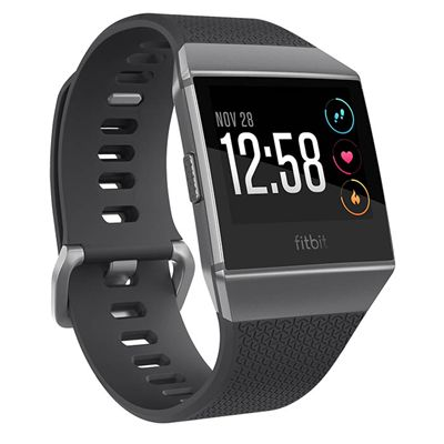 Fitbit Ionic Smart Fitness Watch with Heart Rate Sensor - Charocal