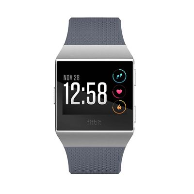 Fitbit Ionic Smart Fitness Watch with Heart Rate Sensor - Grey - Front