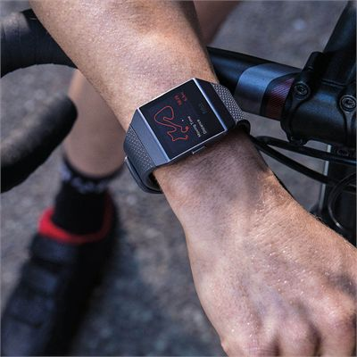 Fitbit Ionic Smart Fitness Watch with Heart Rate Sensor - Lifestyle1
