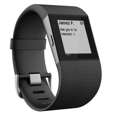 Fitbit Surge GPS Watch - Black - Message