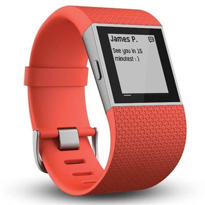 Fitbit Surge GPS Watch - Orange - Message