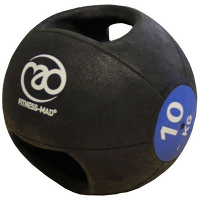 Fitness Mad 10kg Double Grip Medicine Ball