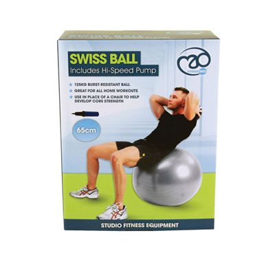 Fitness Mad 125Kg Anti-Burst Swiss Ball - 65cm - Box Image
