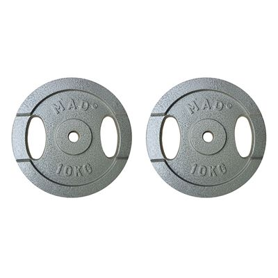 Fitness Mad 2 x 10kg Standard Weight Plates