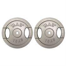 Fitness Mad 2 x 15kg Standard Weight Plates