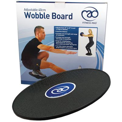 Fitness Mad 40cm Adjustable Wobble Board with Box