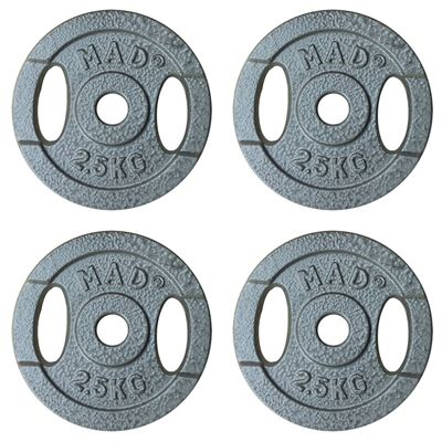 Fitness Mad 4 x 2.5kg Standard Weight Plates