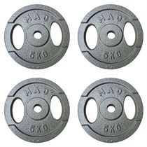 Fitness Mad 4 x 5kg Standard Weight Plates