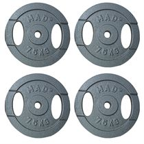 Fitness Mad 4 x 7.5kg Standard Weight Plates