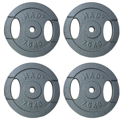 Fitness Mad 4x7.5kg Standard Weight Plates