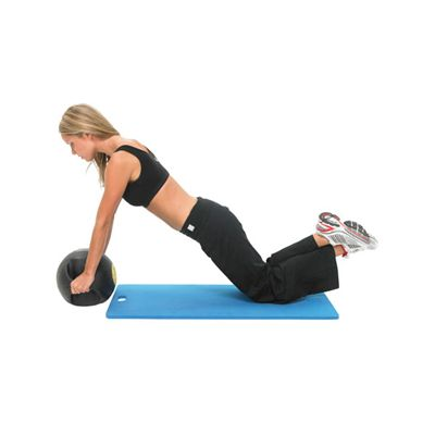 Fitness Mad 4kg Double Grip Medicine Ball In Use Image 2