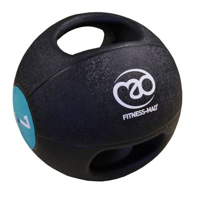 Fitness Mad 7kg Double Grip Medicine Ball-new-blue
