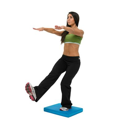 Fitness Mad Balance Pad in Use