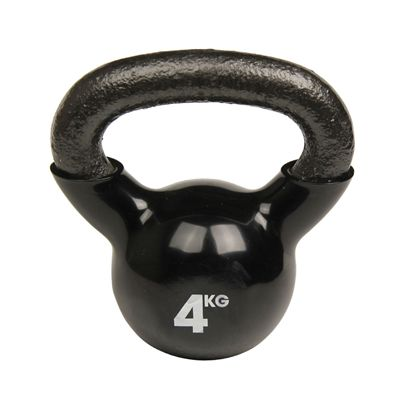 Fitness Mad Black Kettlebell - 4kg