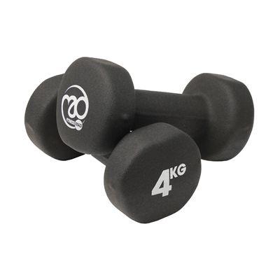 Fitness Mad Black Neoprene Dumbbells - 4kg b