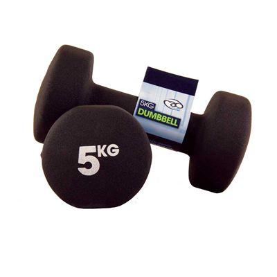 Fitness Mad Black Neoprene Dumbbells - 6kg c