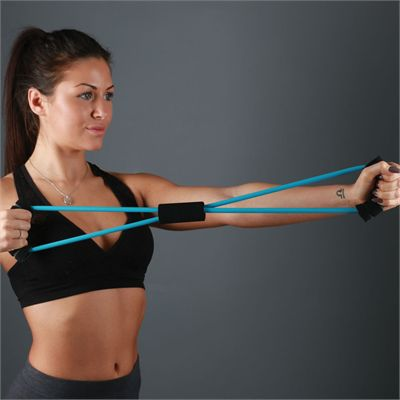 Fitness Mad Figure Eight Light Resistance Band - In Use