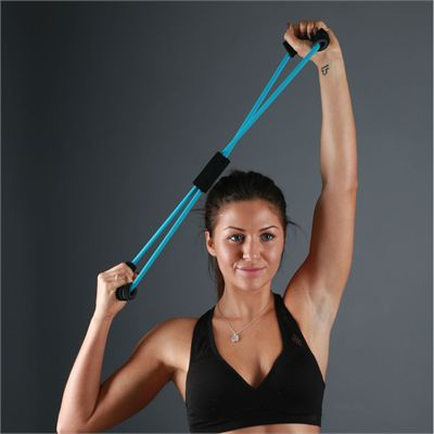Fitness Mad Figure Eight Medium Resistance Band - In Use1