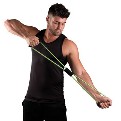 Fitness Mad Figure Eight Medium Resistance Band - In Use