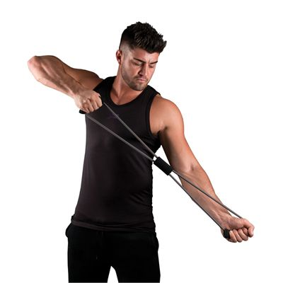 Fitness Mad Figure Eight Strong Resistance Band - In Use