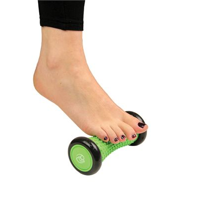 Fitness Mad Foot Massage Roller - In Use