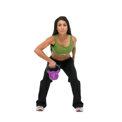 Fitness Mad Kettle Bell 8Kg In Use Image 1