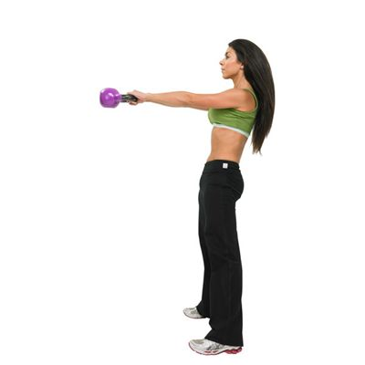 Fitness Mad Kettle Bell 8Kg In Use Image 2