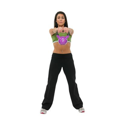 Fitness Mad Kettle Bell 8Kg In Use Image 3