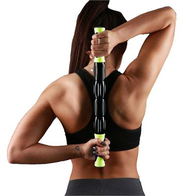 Fitness Mad Rolling Massage Stick 2016 In Use Image One