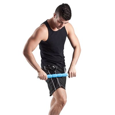 Fitness Mad Rolling Massage Stick - In Use