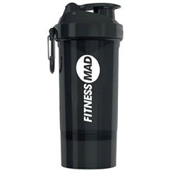 Fitness Mad Smartshake 600ml Bottle with Storage Compartment