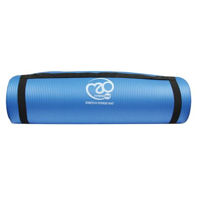 Fitness Mad Stretch Fitness Mat - Blue - With Strap