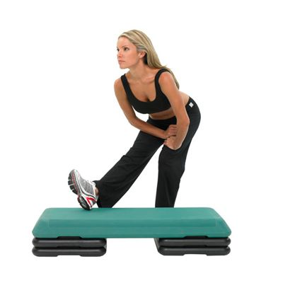 Fitness Mad Studio Aerobic Step in Use Image 1