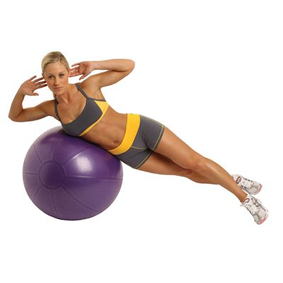 Fitness Mad Studio Pro 500Kg Swiss Ball and Pump - 75cm - In Use