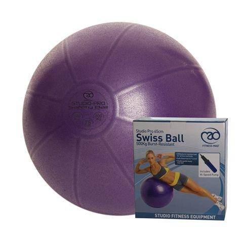 Fitness Mad Studio Pro 500Kg Swiss Ball and Pump - 75cm