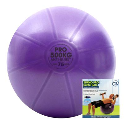 Fitness Mad Studio Pro 500Kg Swiss Ball and Pump - 75cm New