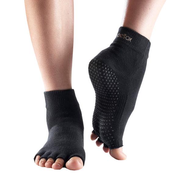 ToeSox Half Sock  Black M