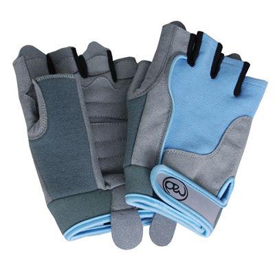 Fitness Mad Womens Cross Training Gloves Blue Medium