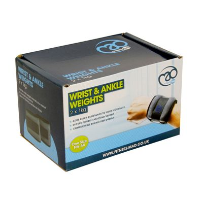 Yoga Mad Wrist and Ankle Weights 2 x1kg - Box
