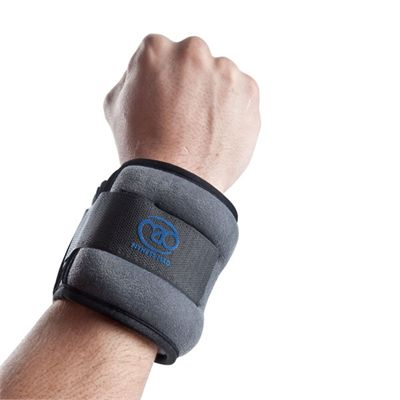 Yoga Mad Wrist and Ankle Weights 2 x1kg - In Use