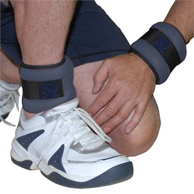 Yoga Mad Wrist and Ankle Weights 2 x1kg - In Use Image