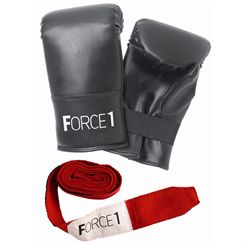 Force1 Boxing Mitts and Wrist Wraps