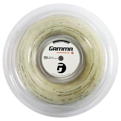 Gamma Advantage 1.38mm Tennis String 220m Reel-White