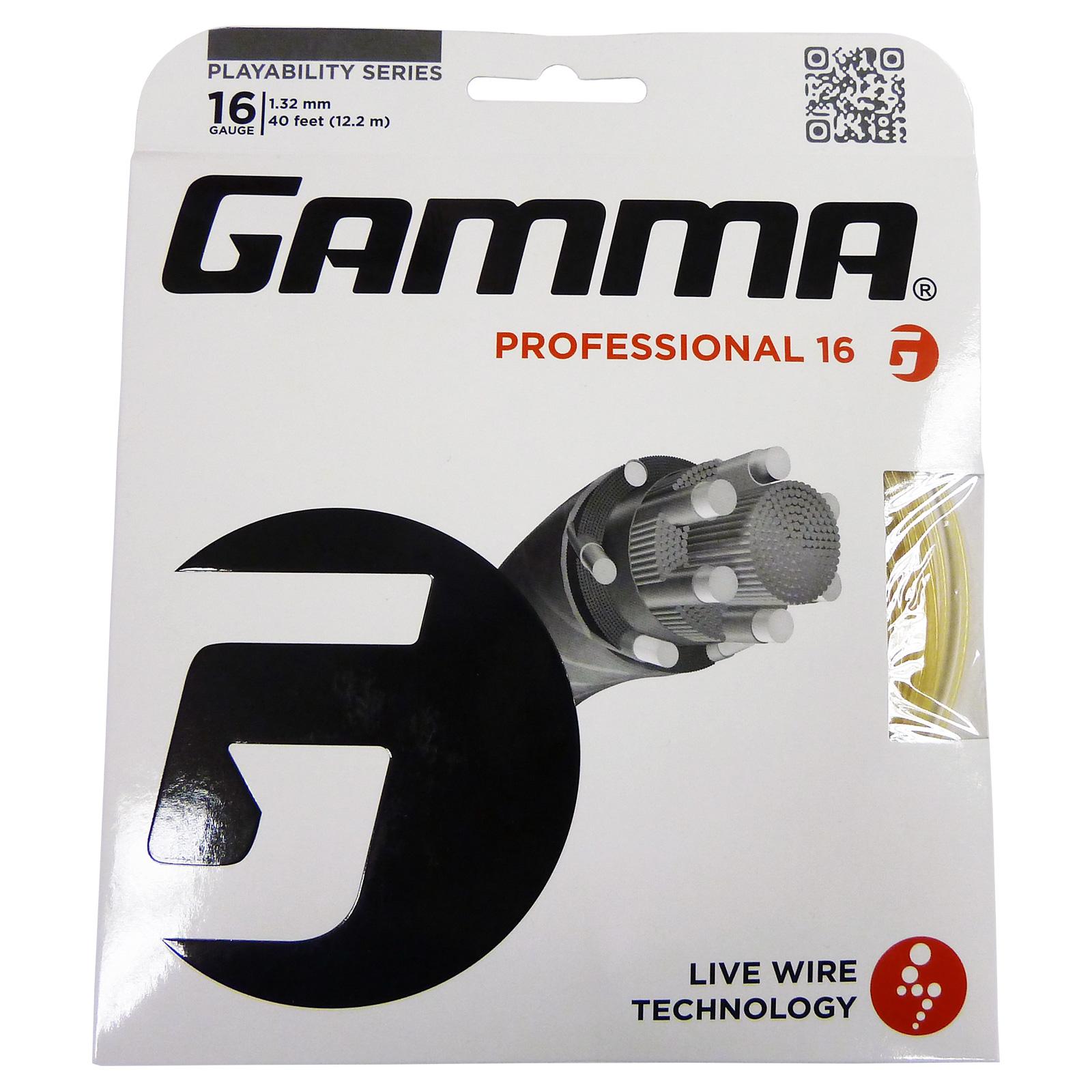 Gamma Live Wire Professional 1.32mm Tennis String Set