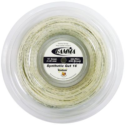 Gamma Synthetic Gut 1.30mm Tennis String 200m Reel-White