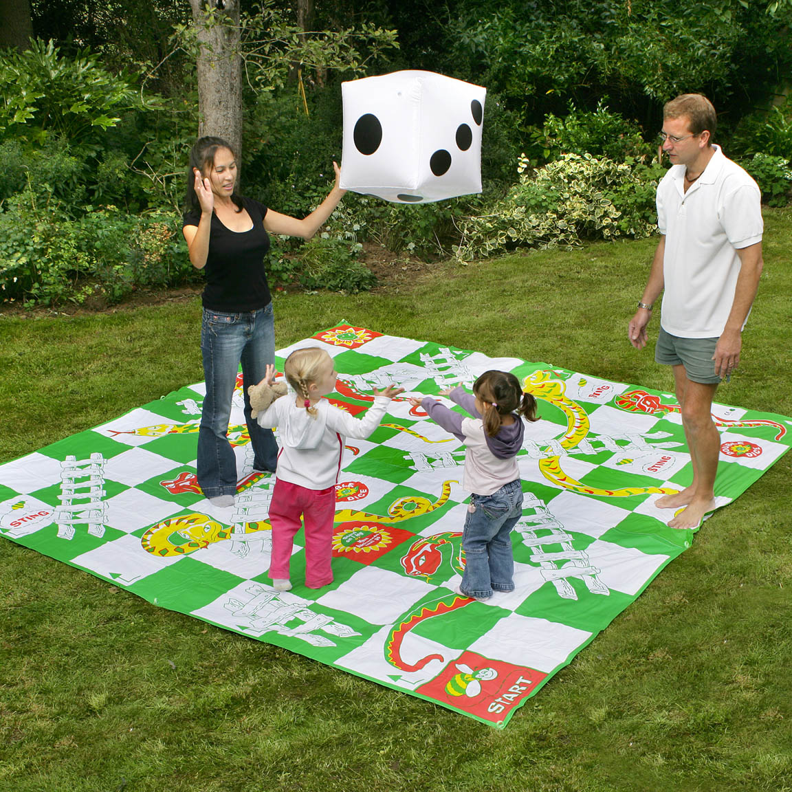 Image of Garden Games Giant Snakes and Ladders